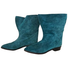 Walter Steiger Suede Blue Boots. Excellent conditions. Size 39