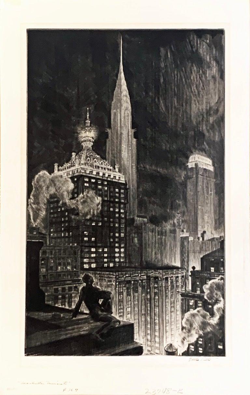 Walter Tittle Landscape Print - MANHATTAN MINARETS