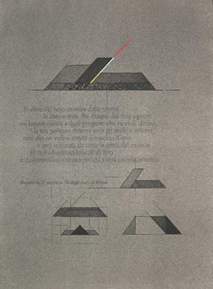 Geometric Composition - Original Lithograph by Walter Valentini - 1970s