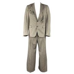 WALTER VAN BEIRENDONCK F/W 16 Size 40 Black & White 1003 Sharp Doll Suit
