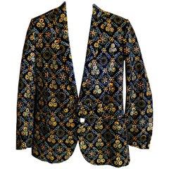 Walter van Beirendonck Men's Hand Printed Folk Art Jacket New / Tags SS 2017