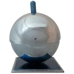 Walter von Nessen Art Deco Chrome Metal Globe Ashtray