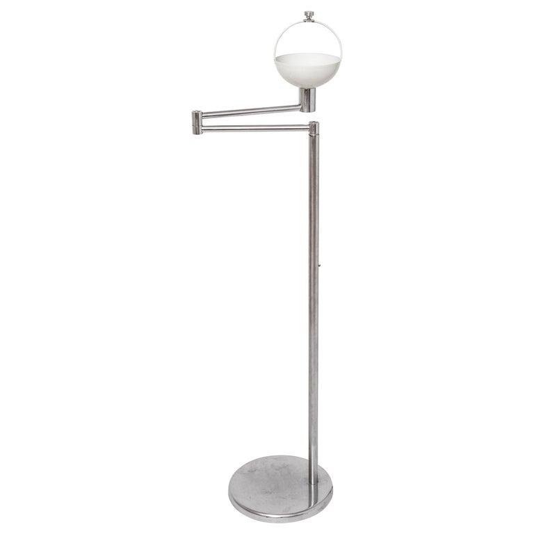 Walter Von Nessen Modern Swing Arm Floor Lamp For Sale