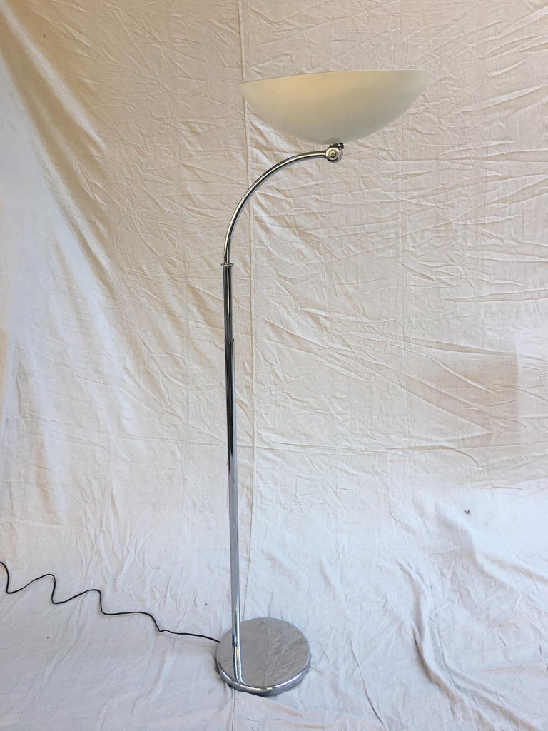 Machine Age Walter Von Nessen Studios Adjustable Floor Lamp For Sale