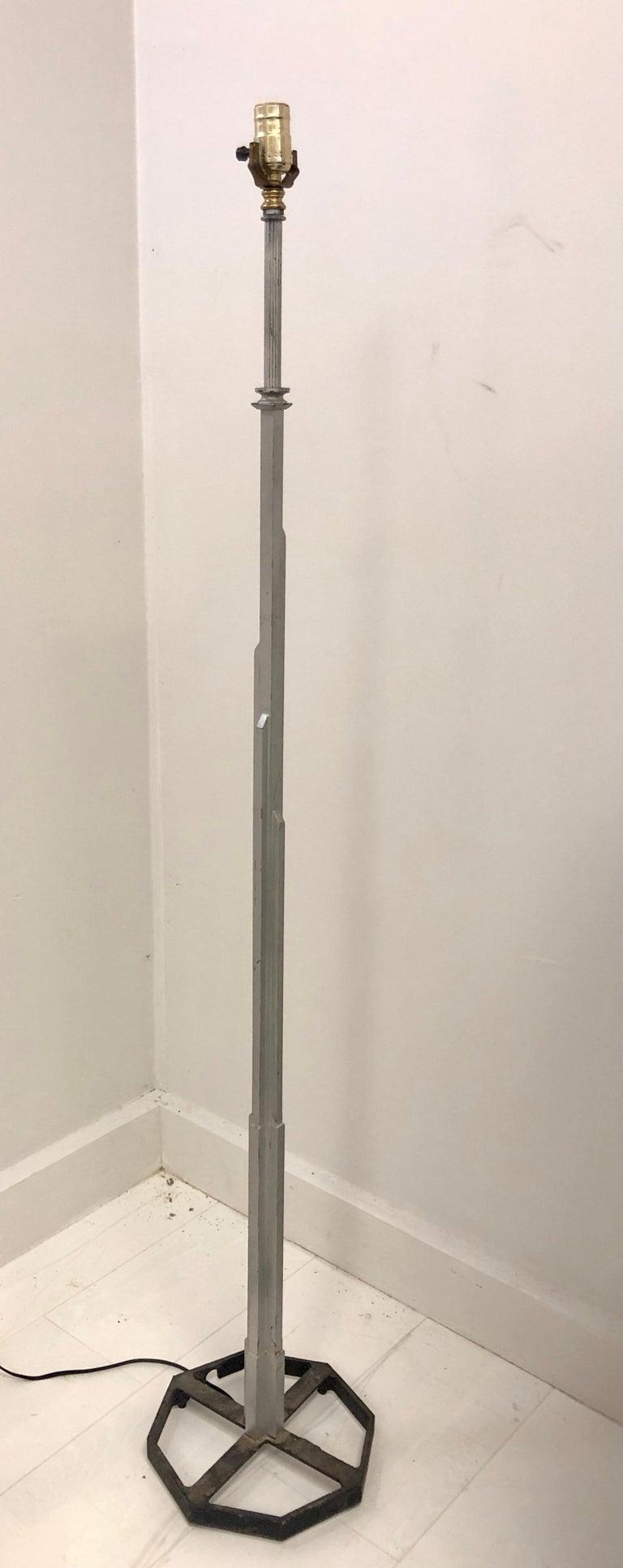 American Walter Von Nesson 'Skyscraper' Floor Lamp For Sale
