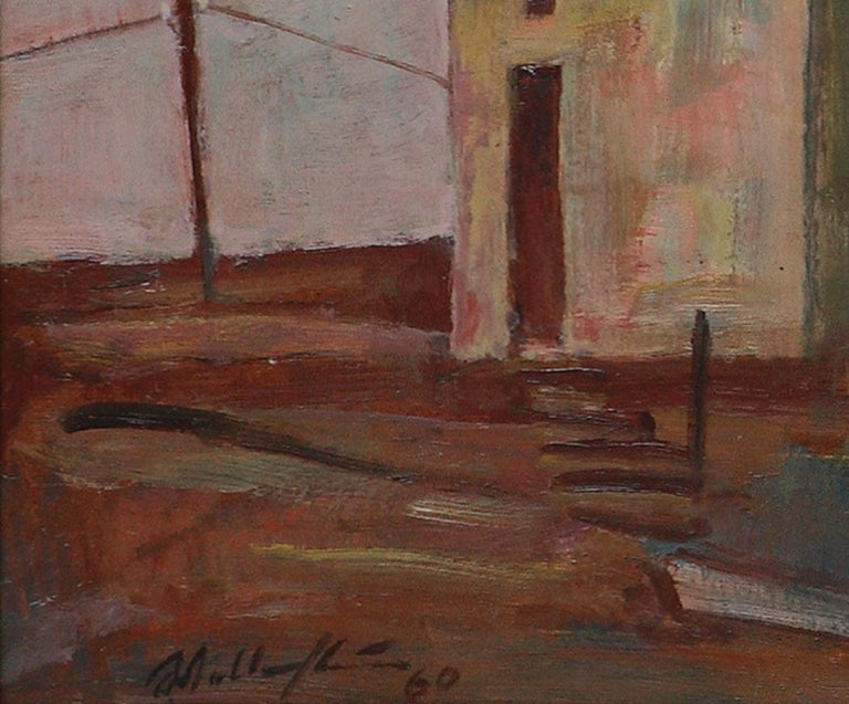 Walter Wellenstein Untitled Oil Painting 1960 For Sale 3