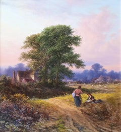 A Chat by The Wayside and Harvest Time (Pair)