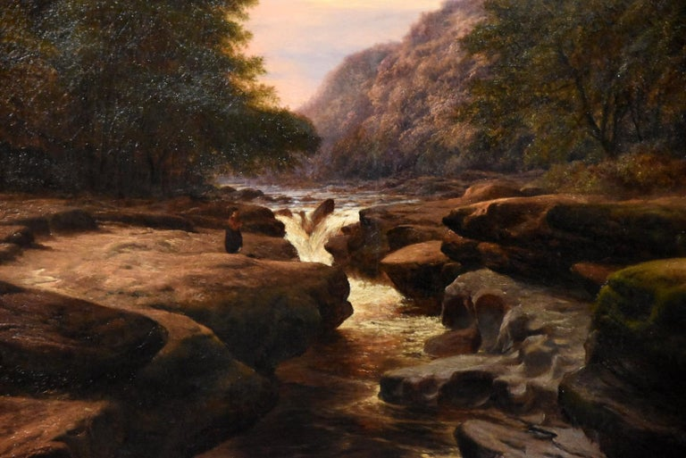Oil Painting 'The Strid, near Bolton Abbey Wharfedale' by Walter Williams For Sale 2