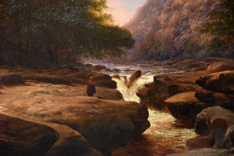 Oil Painting 'The Strid, near Bolton Abbey Wharfedale' by Walter Williams For Sale 3