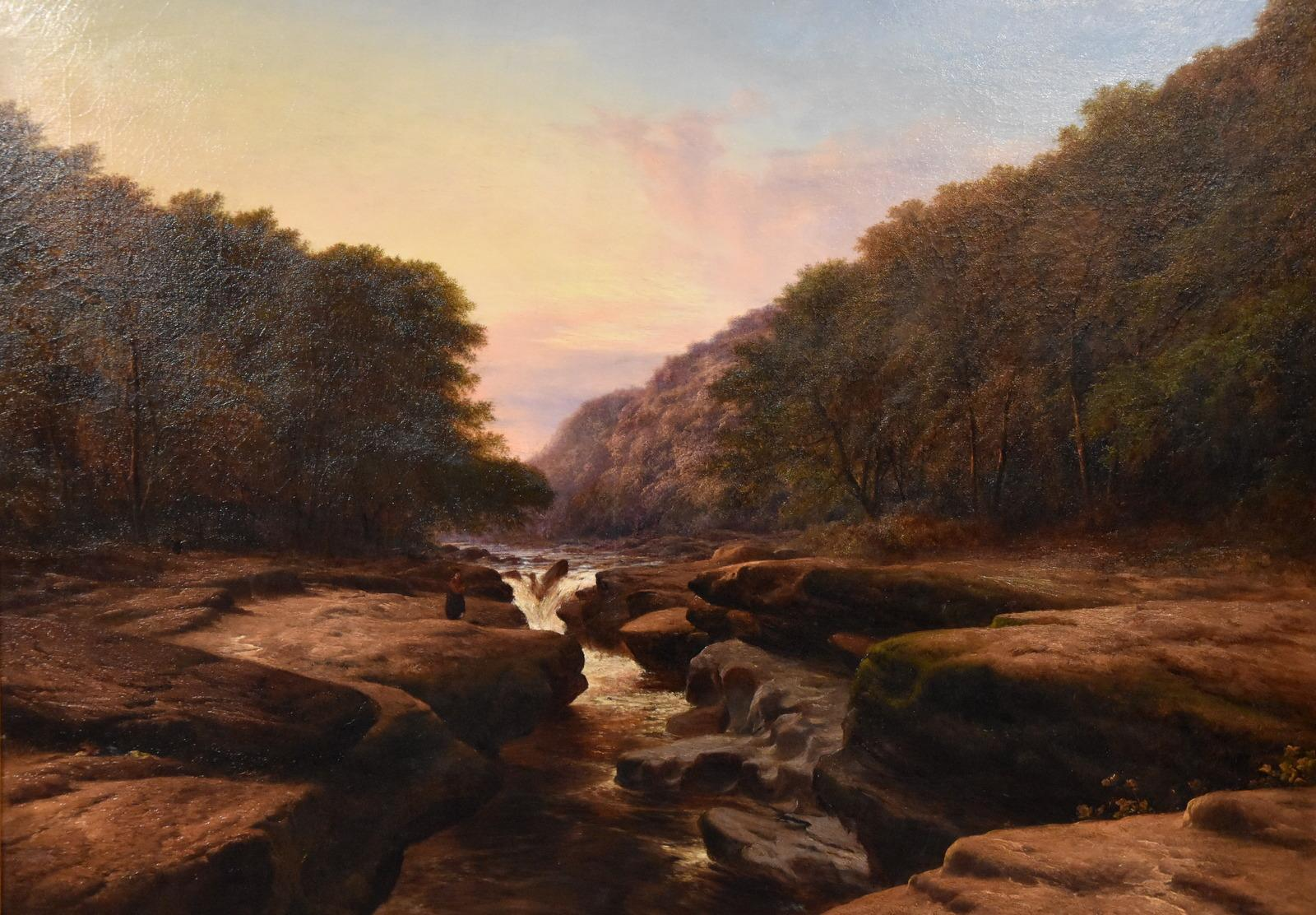 Oil Painting 'The Strid, near Bolton Abbey Wharfedale' by Walter Williams