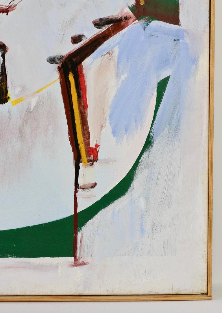 Walter Wohlschlegel 'Hochsommer' Vintage Abstract Modern Art Painting, 1986 In Good Condition For Sale In Landau an der Isar, Bayern