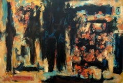 Autumn Woods - Large Modern Abstract Oil by Member of Painters 11