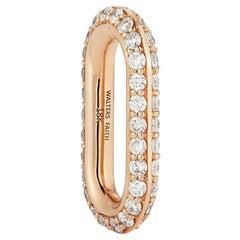 Walters Faith 18 Karat Rose Gold All Diamond Pave Link