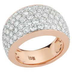 Walters Faith 18 Karat Rose Gold All Pave Diamond Bombe Ring