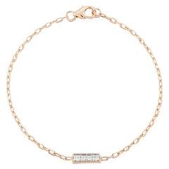 Walters Faith 18 Karat Rose Gold and 4 Diamond Bar Bracelet