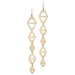 Walters Faith 18 Karat Rose Gold Five-Drop Mixed Size Signature Hexagon Earring