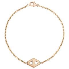 Walters Faith 18 Karat Rose Gold Small Signature Hexagon Bracelet