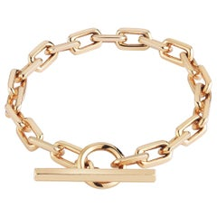 Walters Faith 18 Karat Rose Gold Toggle Chain Link Bracelet