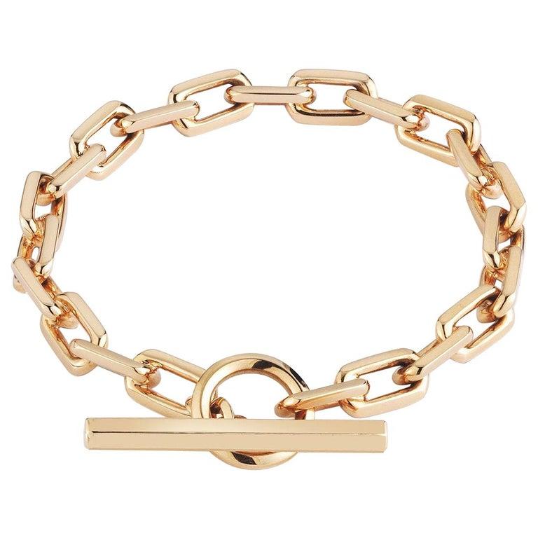 Walters Faith 18 Karat Rose Gold Toggle Chain Link Bracelet For Sale