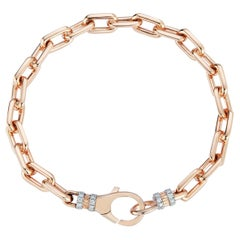 Walters Faith 18K Rose Gold Chain Link Bracelet with Diamond Lobster Clasp