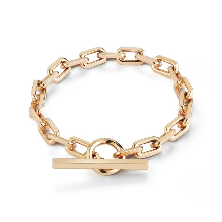 Walters Faith 18 Karat Rose Gold Toggle Chain Link Bracelet In New Condition For Sale In New York, NY