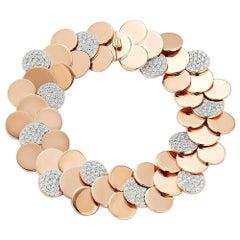 Walters Faith's 18 Karat Rose Gold and Diamond Circular Disc Bracelet
