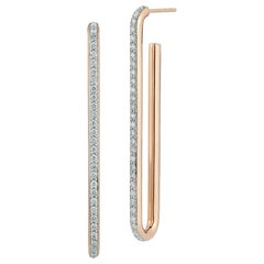 Walters Faith's 18 Karat Rose Gold and Diamond Single Chain Link Earring