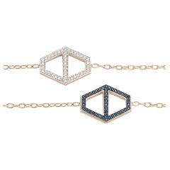 Walters Faith's 18 Karat White Diamond and Blue Sapphire Double Sided Bracelet
