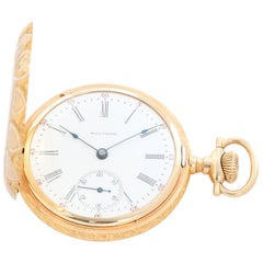 Waltham 14 Karat Yellow Gold 16S Model 1899 Manual Pocket Watch