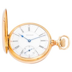 Waltham 14 Karat Yellow Gold Pocket Watch