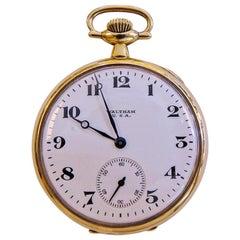 Waltham 14 Karat Gold Pocket Watch Vintage