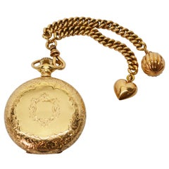 Waltham American Riverside Pocket Watch with Fob and Charms