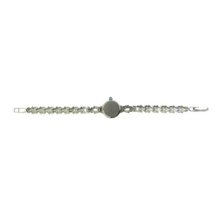 Waltham Platinum Art Deco Ladies Watch with 14 Karat, White Gold Bracelet For Sale 2