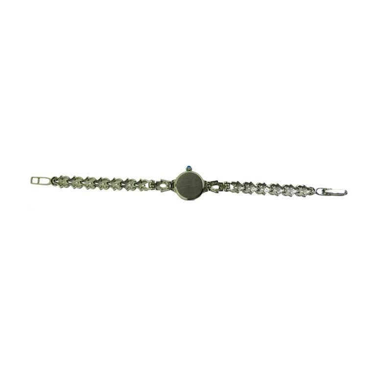 Waltham Platinum Art Deco Ladies Watch with 14 Karat, White Gold Bracelet For Sale 5