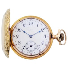 Waltham Rail Print 18 Karat Gold 38113 circa 1900-1910 Pocket Watch I4058053