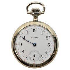 Waltham Steel Pocket Watch with Display Back