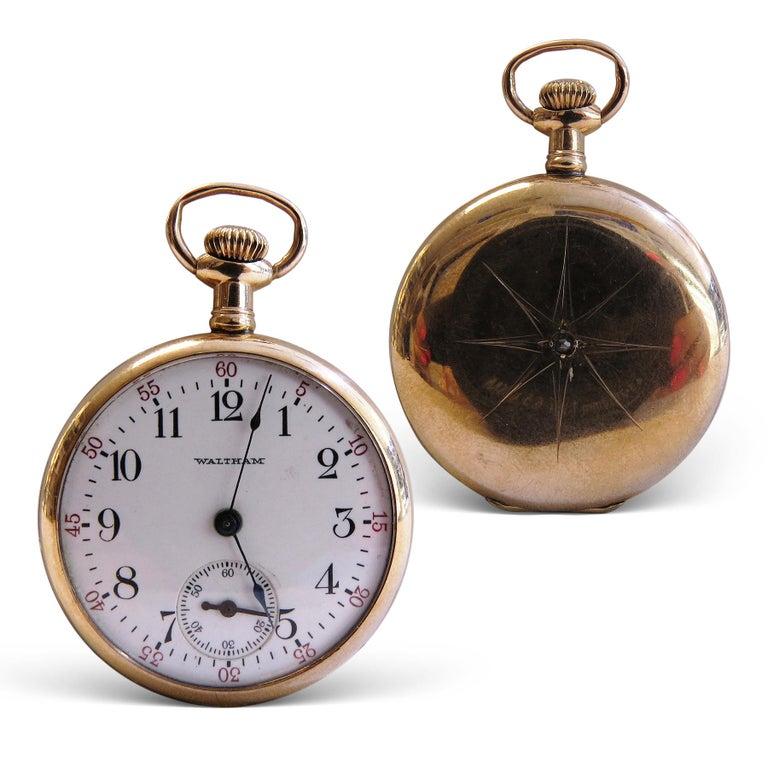 Women's or Men's Waltham Vintage Pocket Watch For Sale
