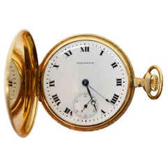 Waltham Watch Co. Gold Hunting Case Antique Pocket Watch