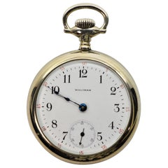 Waltham Watch Company Steel Pocket Watch with Display Back
