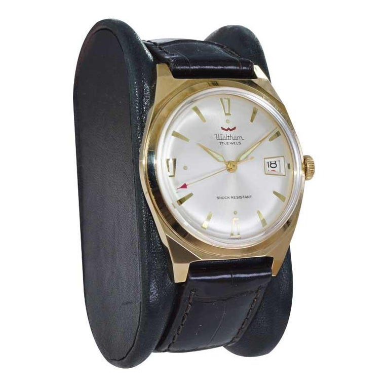 Waltham Yellow Gold Filled Art Deco Style Manual Wind Watch In New Condition For Sale In Long Beach, CA