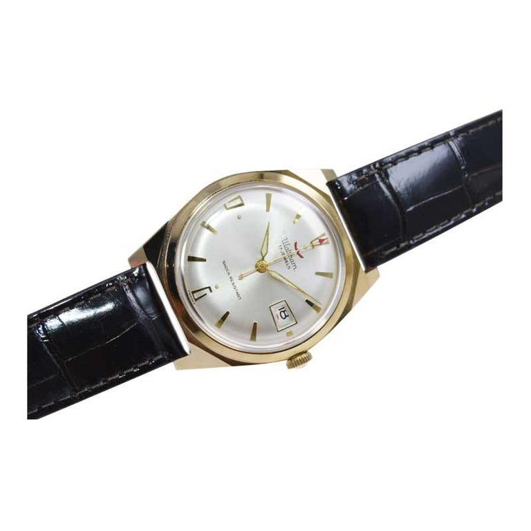 Waltham Yellow Gold Filled Art Deco Style Manual Wind Watch For Sale 2