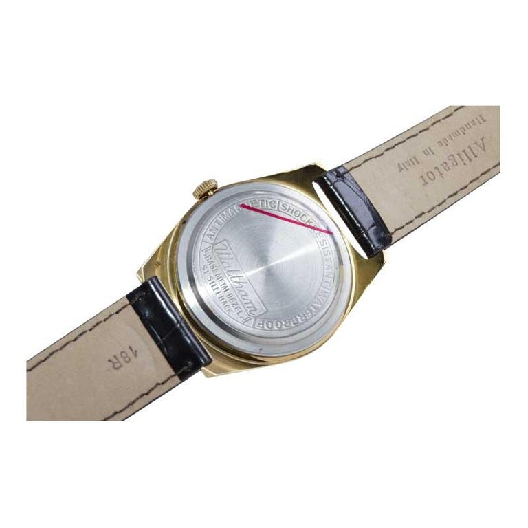 Waltham Yellow Gold Filled Art Deco Style Manual Wind Watch For Sale 3