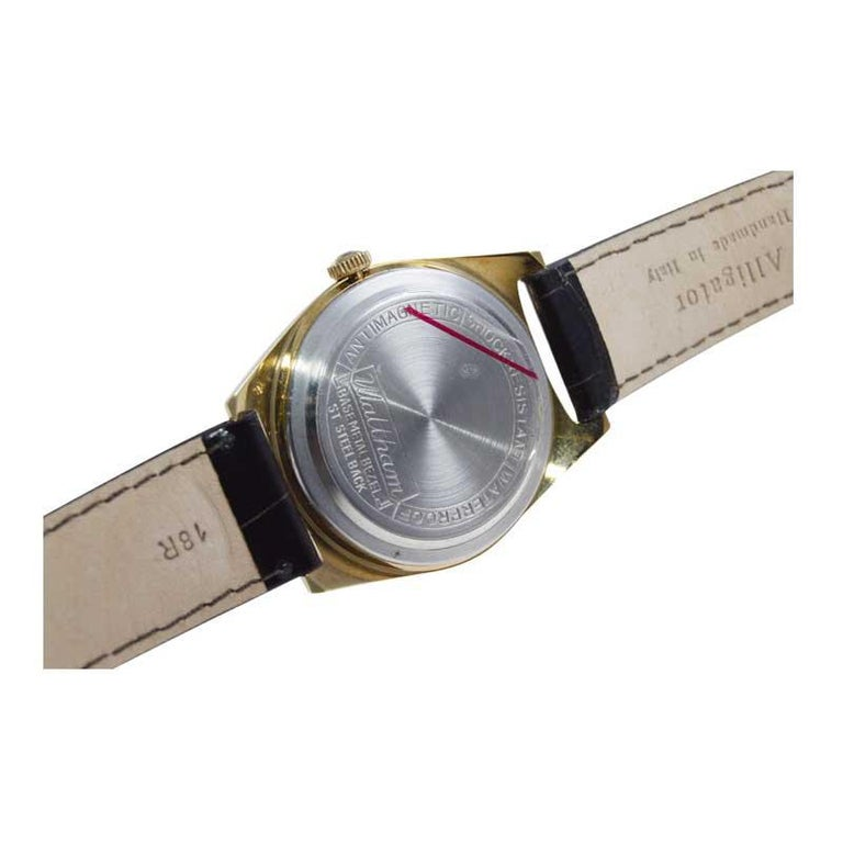 Waltham Yellow Gold Filled Art Deco Style Manual Wind Watch For Sale 4