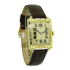 Waltham Yellow Gold Filled Art Deco Wrist Watch from 1926 to Navigate Your Day