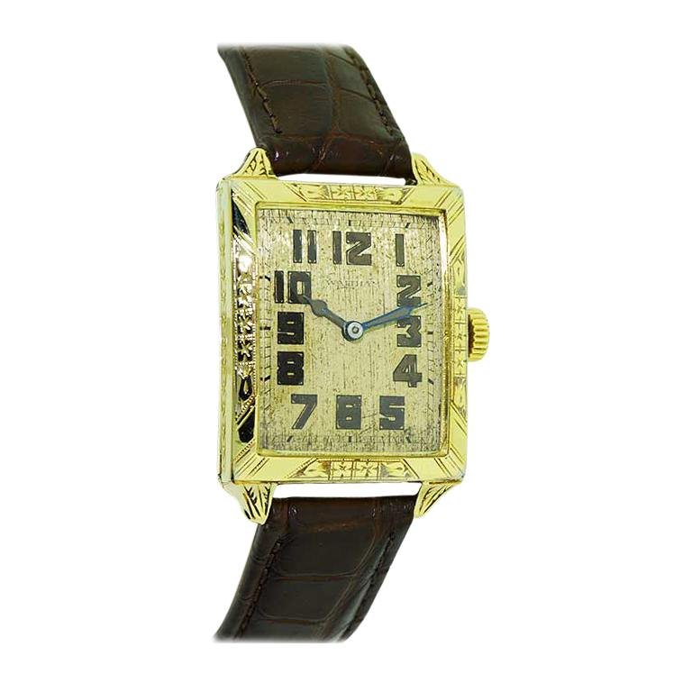 Waltham Yellow Gold Filled Art Deco Wristwatch from 1926 to Navigate Your Day