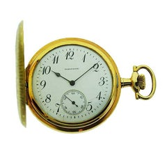 Waltham Yellow Gold Filled Hunters Case Pocket Watch from 1910