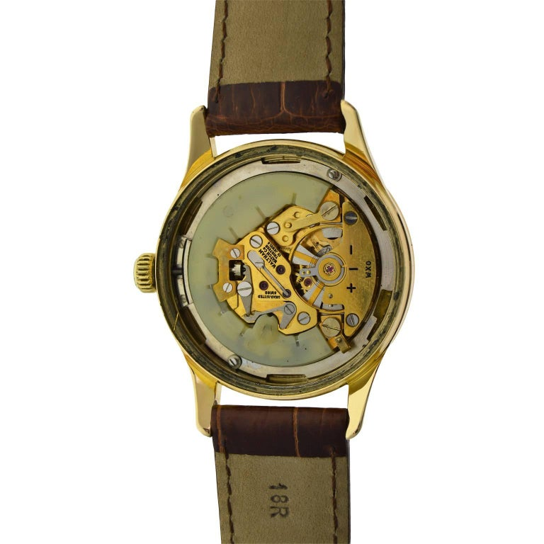 Waltham Yellow Gold Filled Mid Century Experimental Electromechanical Watch  For Sale 7