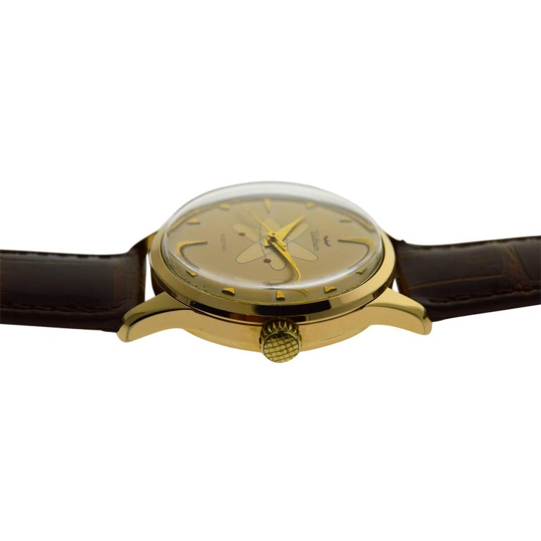 Waltham Yellow Gold Filled Mid Century Experimental Electromechanical Watch  For Sale 4