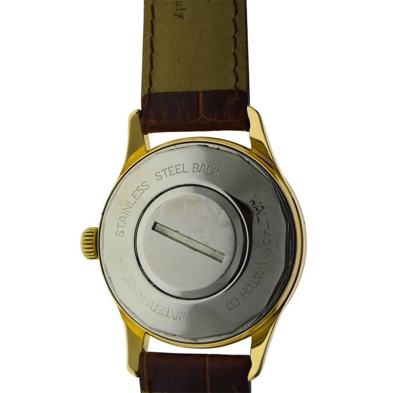 Waltham Yellow Gold Filled Mid Century Experimental Electromechanical Watch  For Sale 5