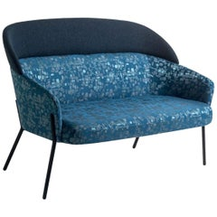 Wam Blue Sofa Motifs, Designed by Marco Zito, Made in Italy